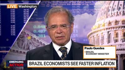 Paulo Guedes em entrevista à Bloomberg TV